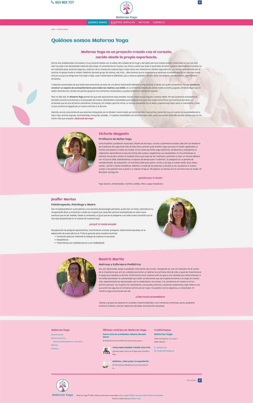 Centro de apoyo a la maternidad y crianza Materna Yoga