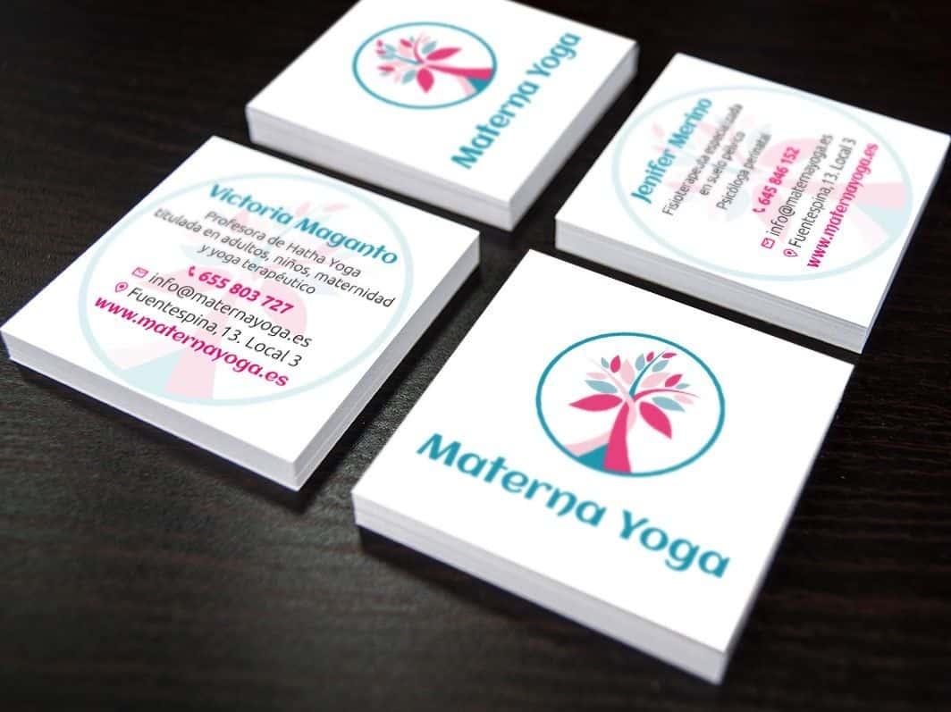Tarjetas materna yoga