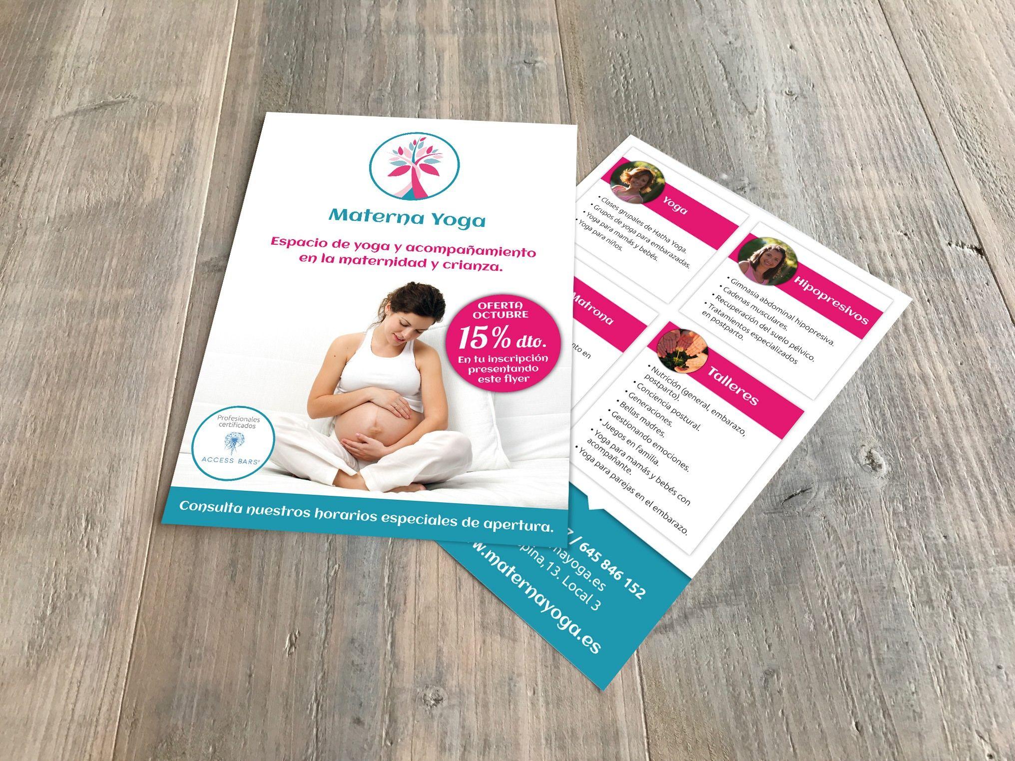 flyers materna yoga